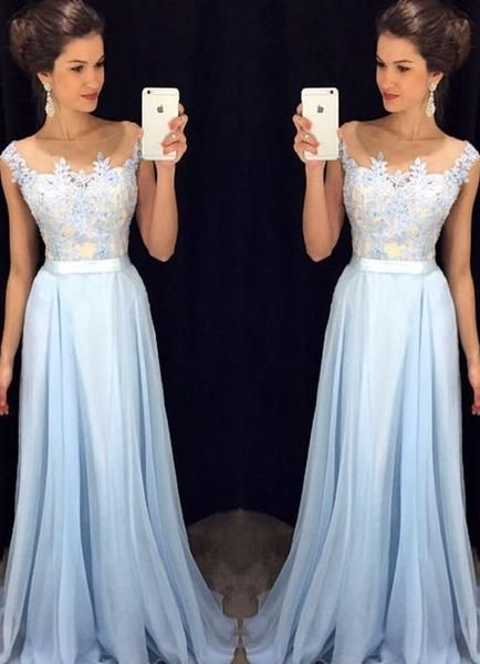 Fashion Prom Dress Prom Dress for Formal Party pst0397 - Fashion Light Blue Prom Dress Prom Dress for Formal Party. Good  choice for your…