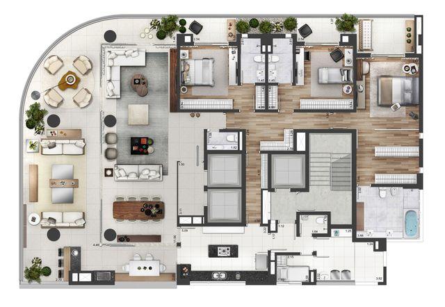 25 More 3 Bedroom 3D Floor Plans Cozy dining rooms, Outdoor areas
