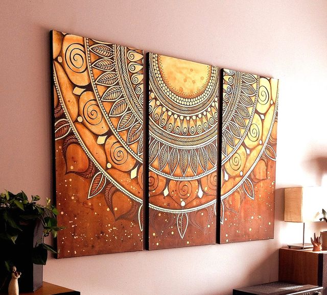 Resultado de imagen para pintar mandala pared paso a paso my