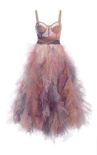 Marchesa Pastel Tulles Dress
