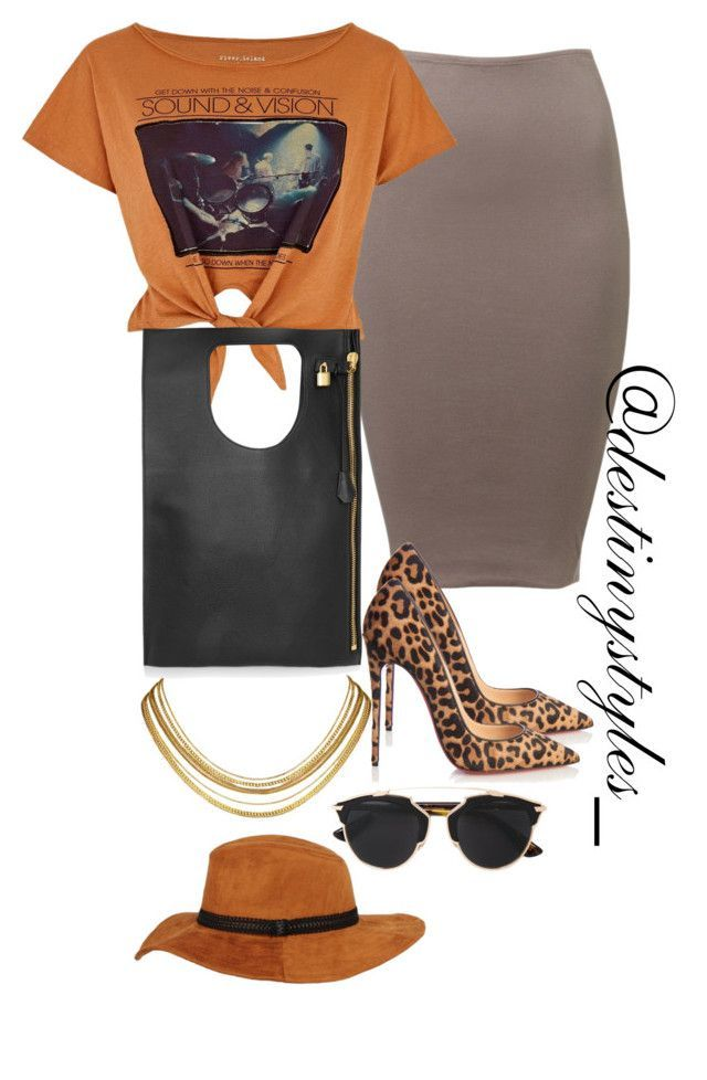 """""""Untitled #166"""" by iamdestinnny on Polyvore featuring River Island, Christian Louboutin, Tom Ford, Christian Dior, Black Rivet, women's clothing, women, female, woman and misses"""