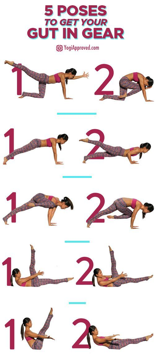 5 Yoga Poses to Get Your Gut in Gear - 5 Yoga Poses to Get Your Gut in Gear. Building and maintaining a strong core not only feels good, but looks good on you! Incorporate these 5 yoga poses for core strength into…
