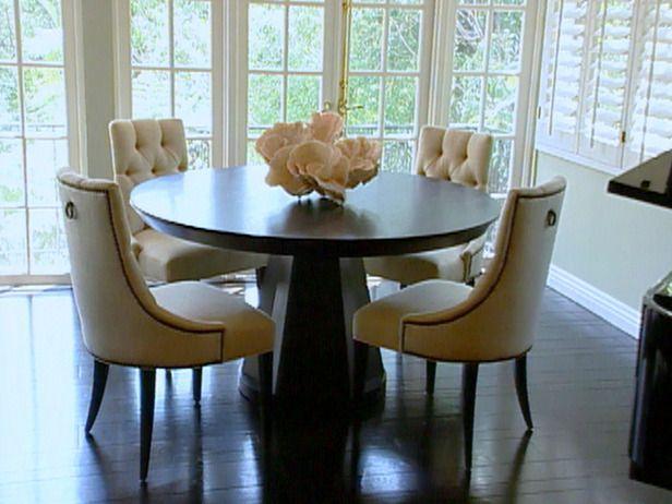 Round Dining Tables For 8  Dark Walnut Modern Round Dining Table Classy Kitchen And Dining Room Tables Design Ideas
