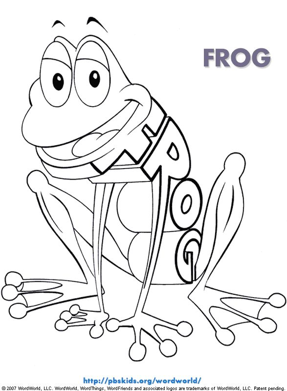 Frog From Word World Coloring Page Kued Kids Shows Pinterest Frogs And Children S