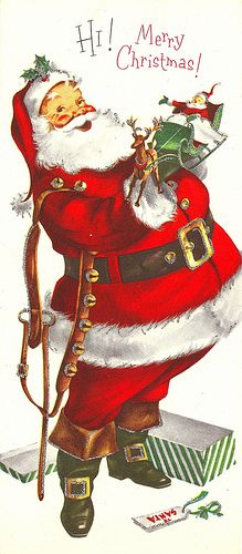 Vintage Santa Christmas Card by MadeByMike, via Flickr