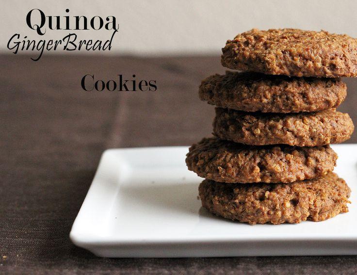 Quinoa Gingerbread Cookies