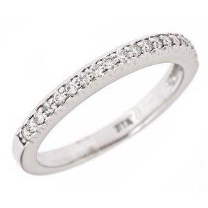 10k White Gold Diamond Wedding Anniversary Band Ring 6.5 (0.18 Cttw, I ...