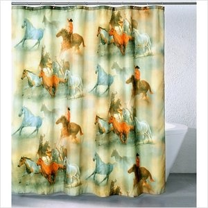 Western themed shower curtian