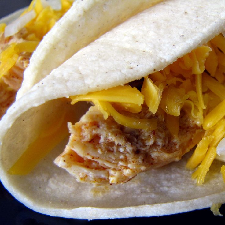 Slow Cooker Lime Chicken Taco Filling   Recipe