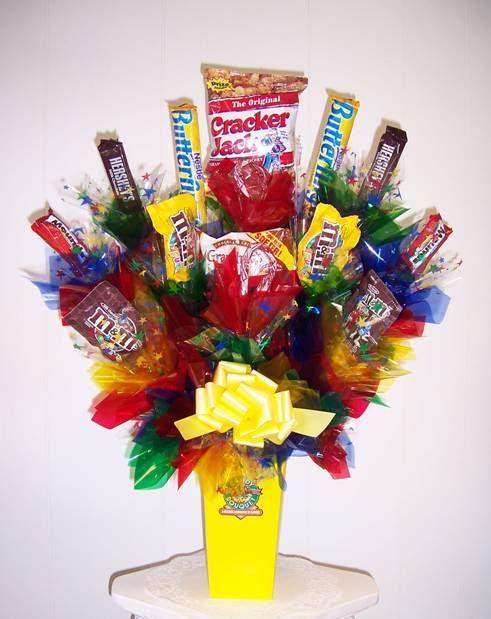 Candy bouquet craft ideas pinterest