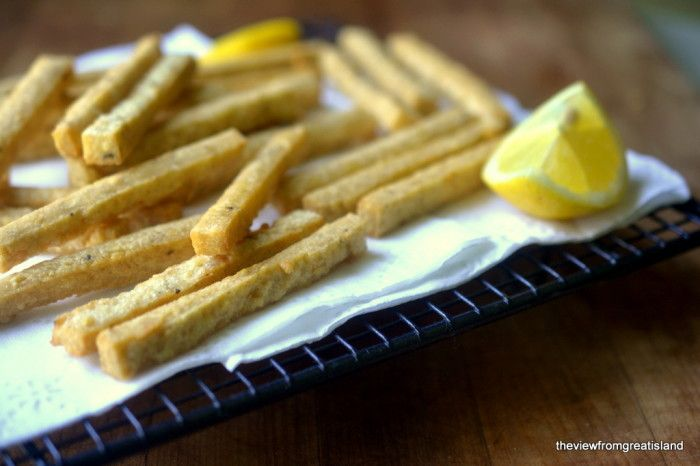 Chickpea Fries with Yogurt Tahini Dip - The View from Great Island