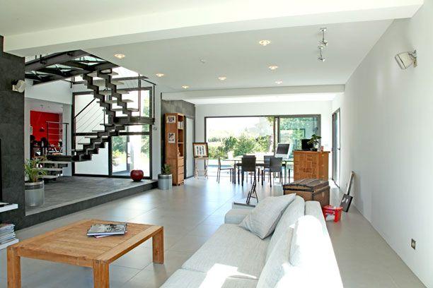 Un grand espace de vie interieur maison pinterest for Interieur de maison