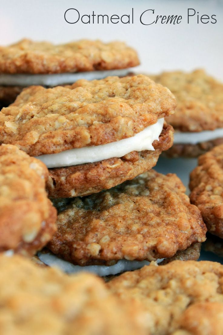 Oatmeal Creme Pies. | Life's Simple Measures | Pinterest