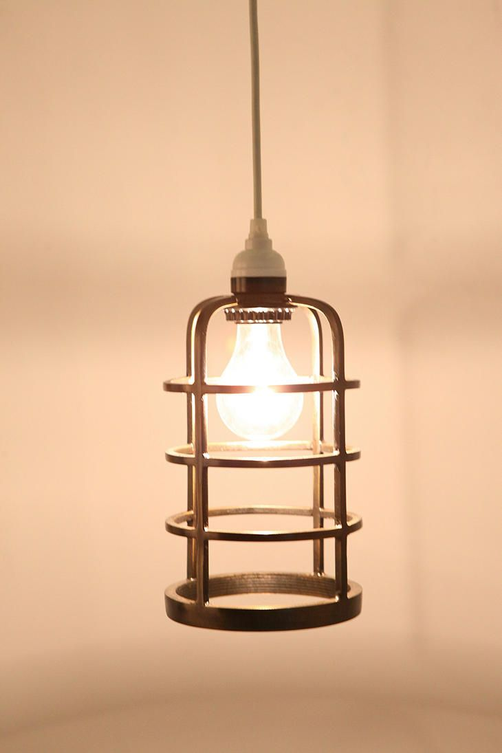 String Lights With Metal Shades : Industrial Metal Cage Pendant Shade Decorating Inspiration Pinter?
