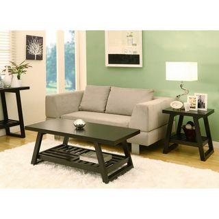 site nsdmkjhjn furniture of america celine rectangular coffee table with end table set