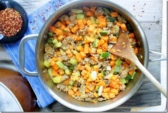 Sweet Potato Hash With Canadian Bacon, Red Pepper & Sage Recipe ...