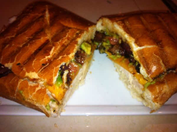 Chicken avocado bacon panini with homemade ranch - click through for ...