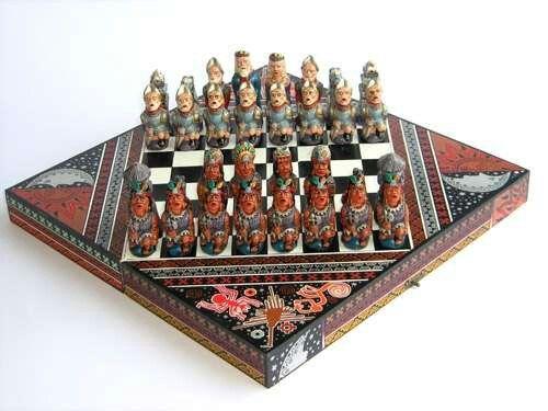 Beautiful Chess Set Made In Peru Handcrafts More