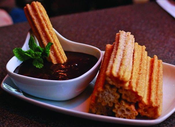 Homemade Churros and Hot Dark Chocolate: