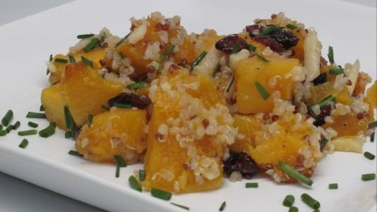 Quinoa with Roasted Butternut Squash and Cranberries | Recipe