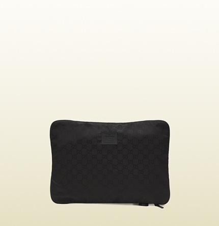 black gg nylon shirt case from viaggio collection 308881 FJ7FR 8615