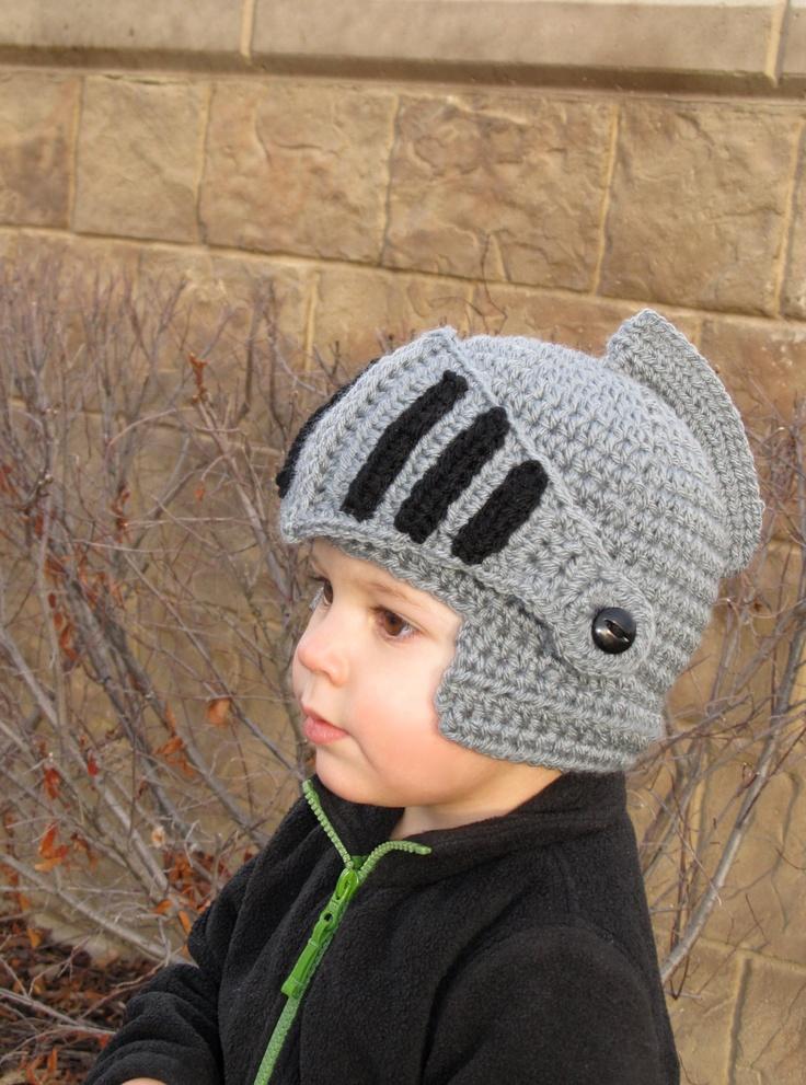 Crochet Knight Helmet 024 month sizes by BriabbyHats on Etsy