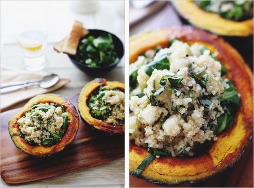 quinoa stuffed butternut squash. | Yummy | Pinterest