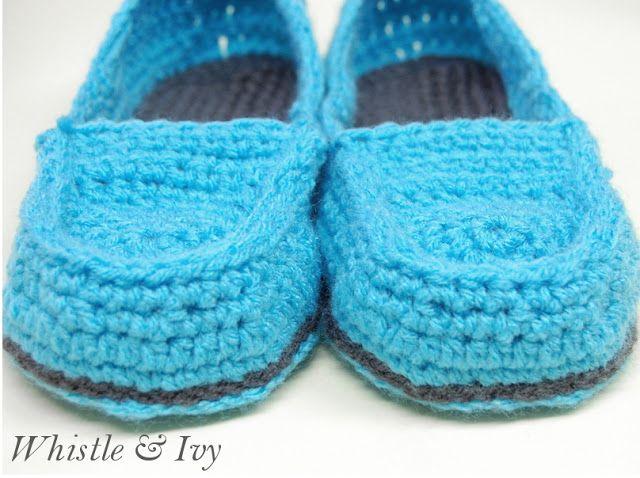 Free Crochet Pattern Loafer Slippers : Womens Loafer Slippers Crochet Pattern Free Patterns ...