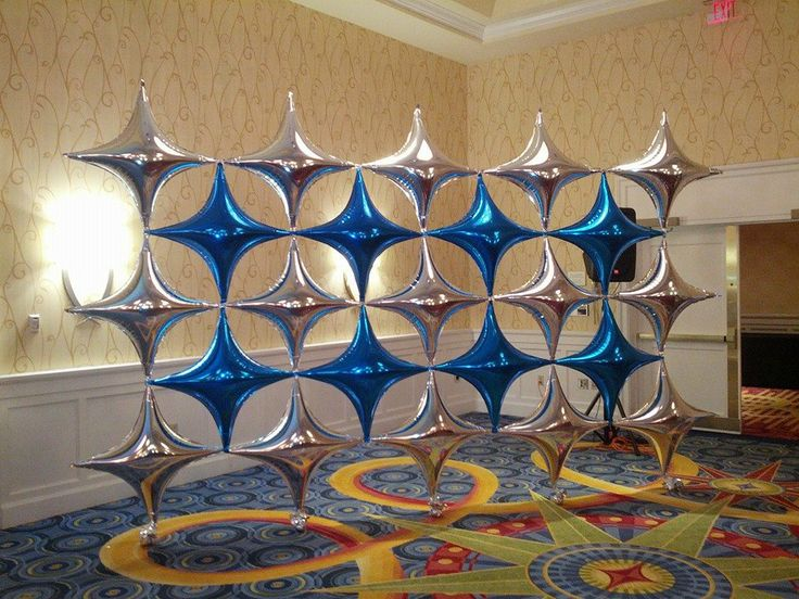 Pin by balloon city of boston inc on latex free designs for Balloon decoration on wall