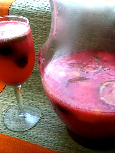 Sparkling Watermelon Sangria - you make the simple syrup with Jolly ...