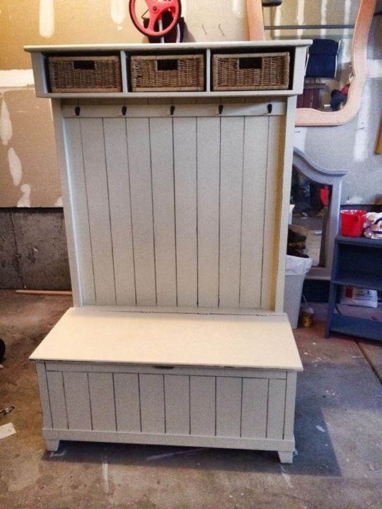 Storage bench for mud room