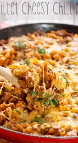 Skillet Cheesy Chili Mac | Recipe
