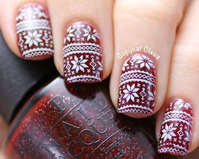 Copycat Claws: Christmas Sweater/Nordic Nail Stamping
