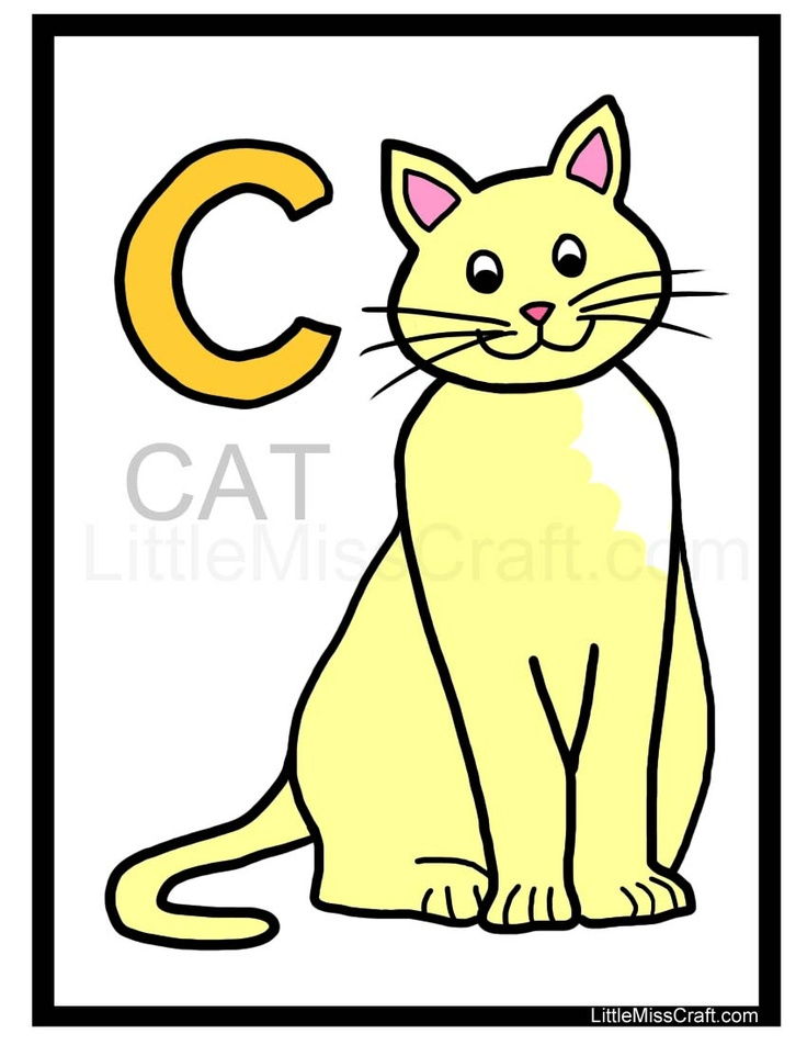 Cat Alphabet Coloring Page - fun + educational, trace the gray letters ...