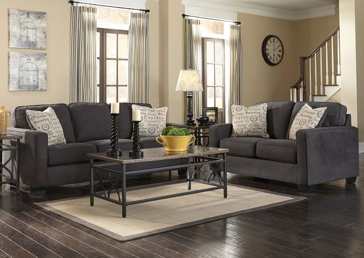 living rooms loveseat alenya charcoal loveseat