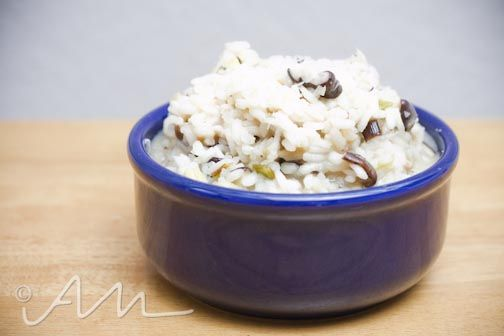 creamy sauteed leek and shiitake risotto | On the Side | Pinterest
