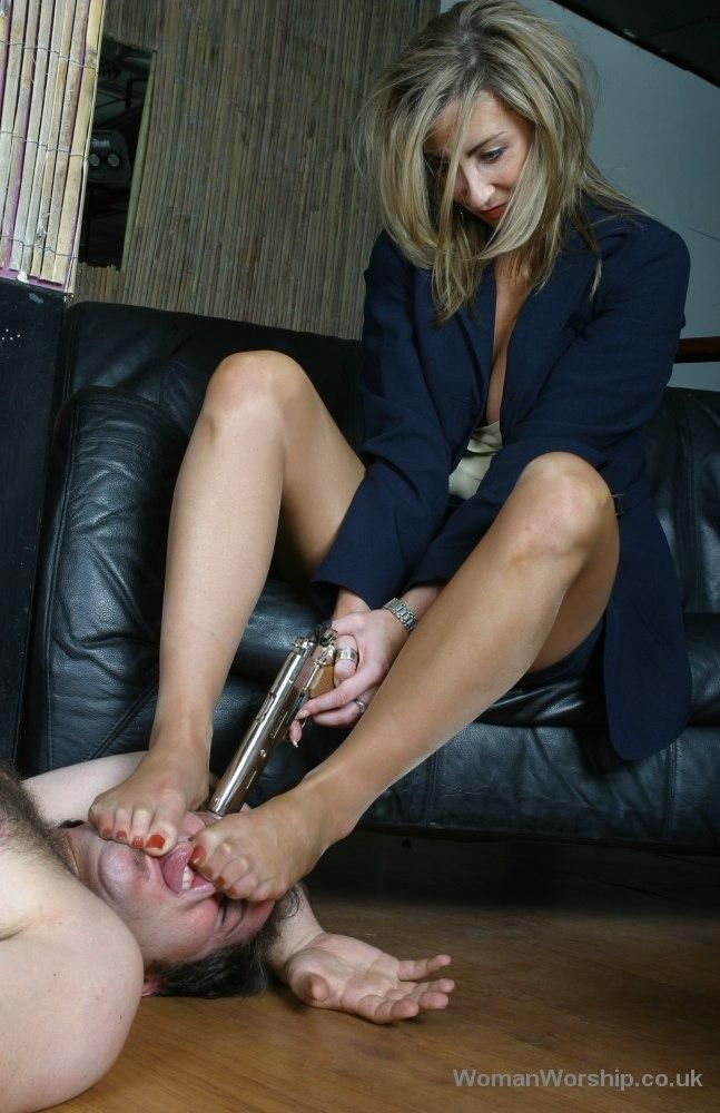 Forced to smell female pantyhose