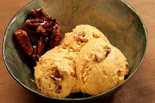 pumpkin pie -- serve pumpkin pie ice cream with a sweet pecan praline ...
