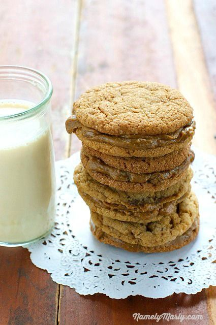Vegan Molasses and Peanut Butter Cream Sandwich Cookies | Namely Marly ...