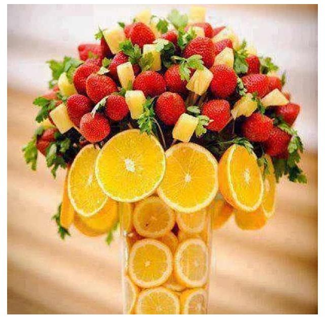 Fruit Arrangement Good Ideas Pinterest