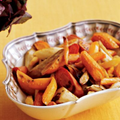 Roasted Maple-Bourbon Carrots and Parsnips #vegetables #myplate