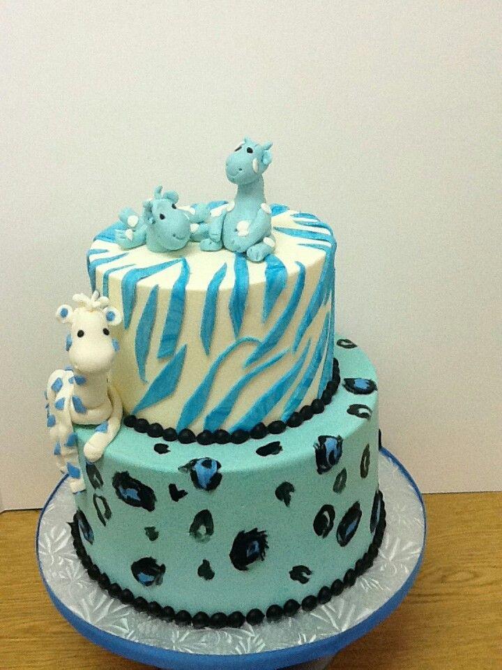 Baby Shower Cakes Safari ~ Our baby boy safari giraffe shower cake oh