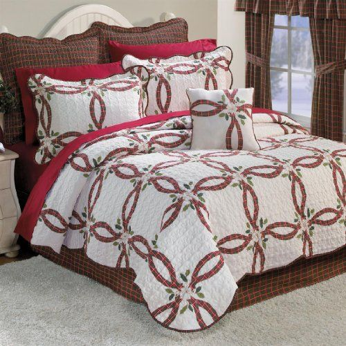 Christmas comforter sets beautiful bedding for the for Brylane home christmas decorations