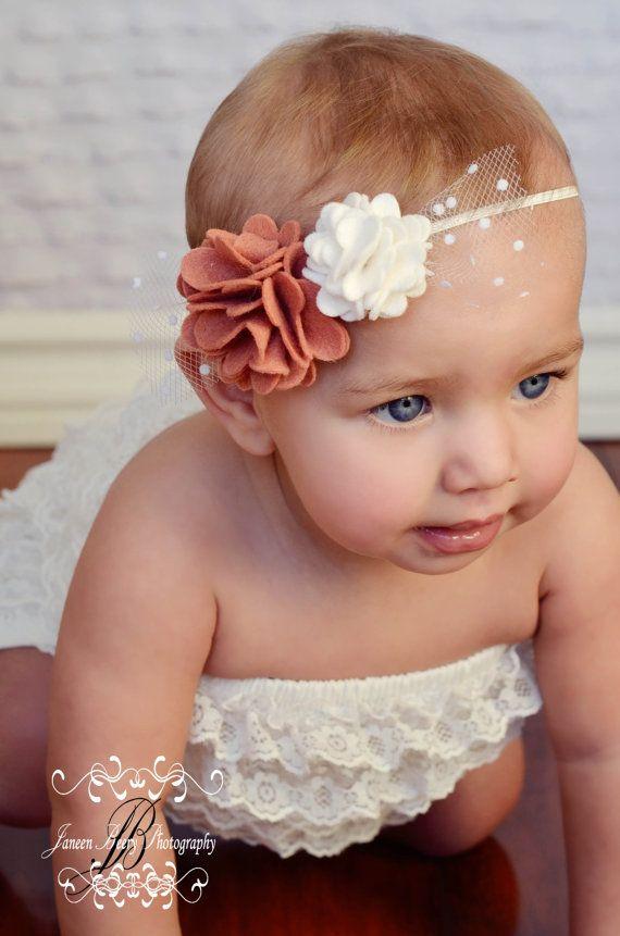 Повязка на голову с цветком для новорожденных своими руками 95