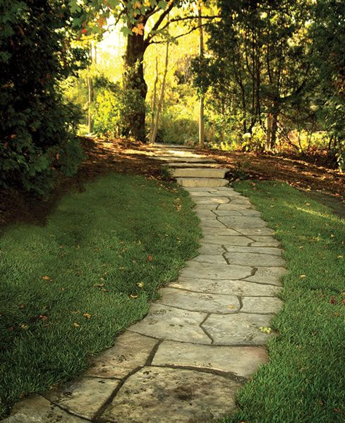 flagstone path yard garden pinterest