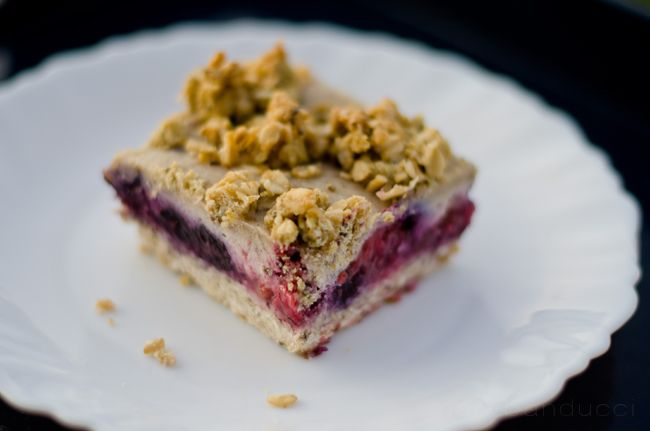 ... }: Red, White & Blueberry Vegan Cheesecake Bars for Fourth of July