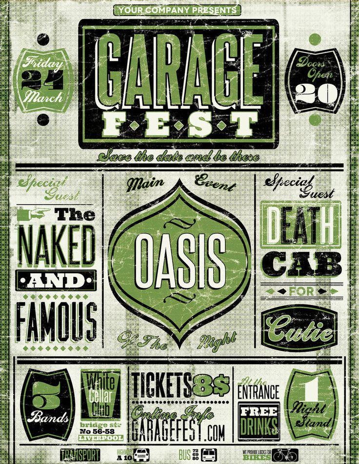 vintage typography posterVintage Typography Poster