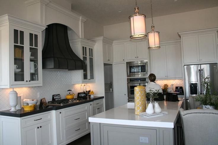 white black and yellow craveworthy kitchens pinterest