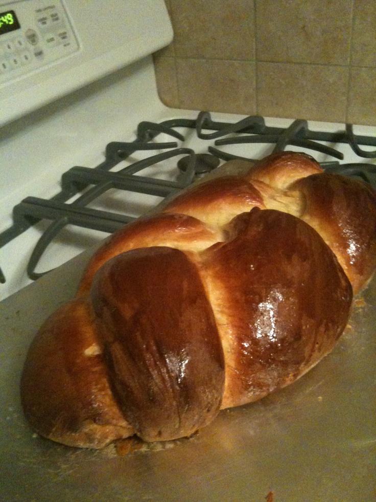 challah bread or braided egg bread