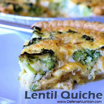 Lentil Quiche Recipe (Anti-Estrogenic Diet Recipe) 1 cup onion ...